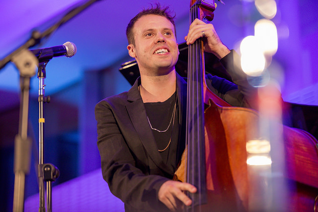 Michael Thurber on bass at the From the Top Gala