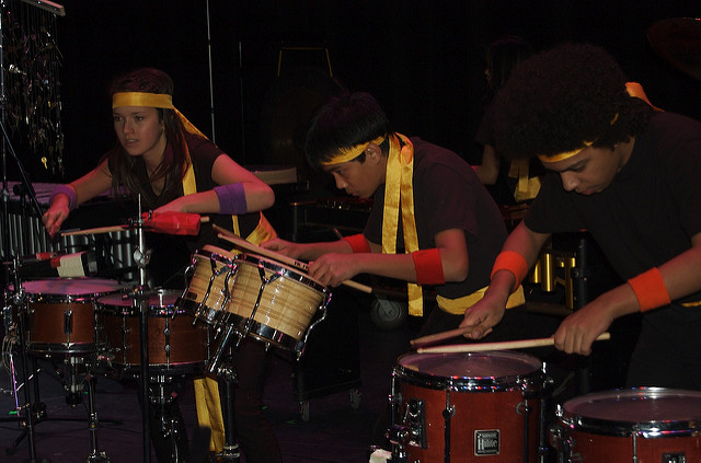Marcelina Suchocka with The Percussion Scholarship Group