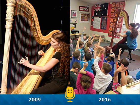 Sage Po, Harpist and recipient of Jack Kent Cooke Young Artist Award