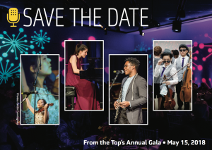 Save the Date for the 2018 From the Top gala