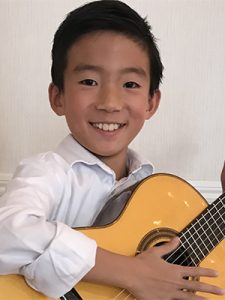 11-year-old guitarist Preston Hong