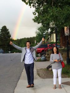 From the Top team members were greeted by a rainbow in Breckenridge!