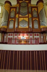Towering Pipe Organ